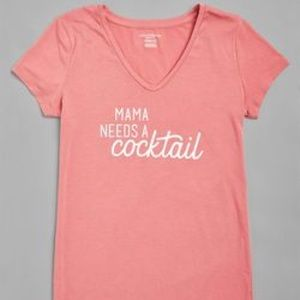 Mama Needs A Cocktail Maternity Tee Size S
